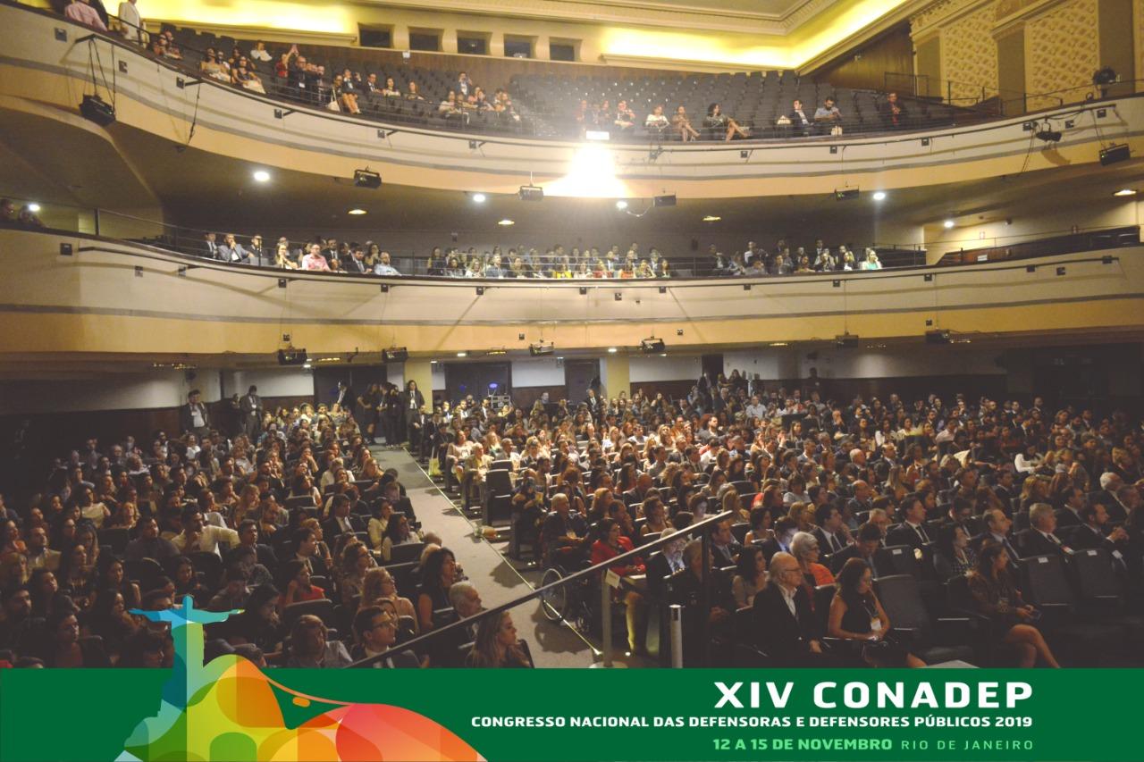 Elogios à atuação da Defensoria Pública e homenagem marcam abertura oficial do XIV CONADEP, no Rio de Janeiro